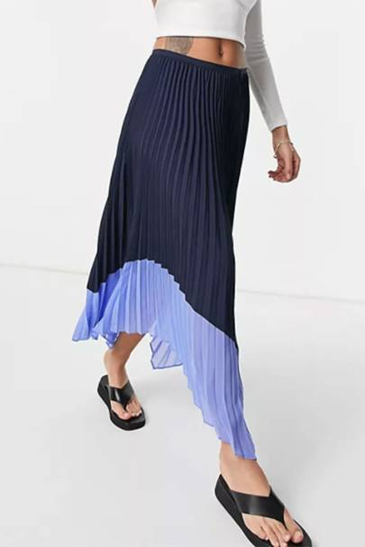 BEST PLEATED SKIRTS: NAVY