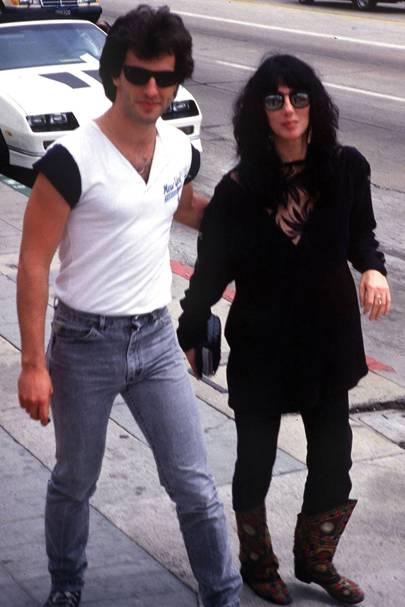 9. Cher and Rob Camilletti