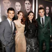 Robert Pattinson, Kristen Stewart, Taylor Lautner & Stephenie Meyer at the LA premiere