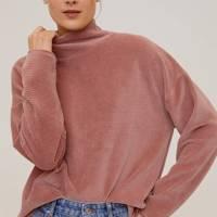 The ribbed sweatshirt