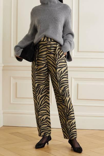Zebra Print Trousers - Khaite