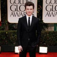 Chris Colfer at Golden Globes 2012
