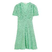 M&S x GHOST JUNE COLLECTION Green Polka Dot Dress