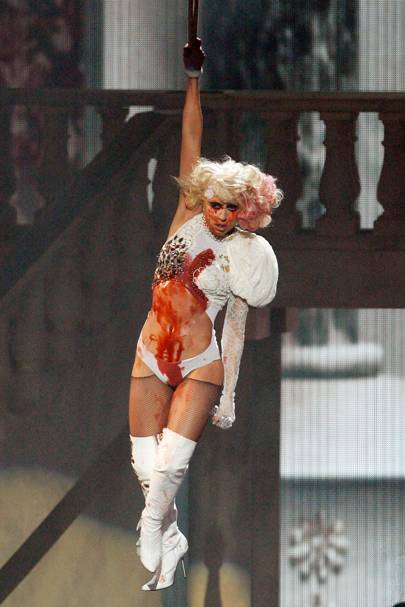14. Lady Gaga's bloody climax