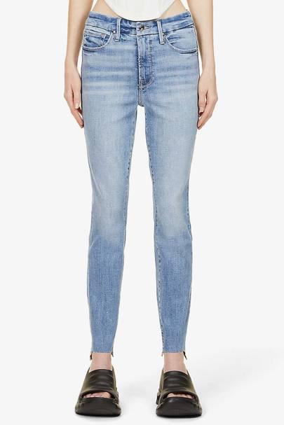 Best Jeans For Curvy Women: Raw Edge Skinny