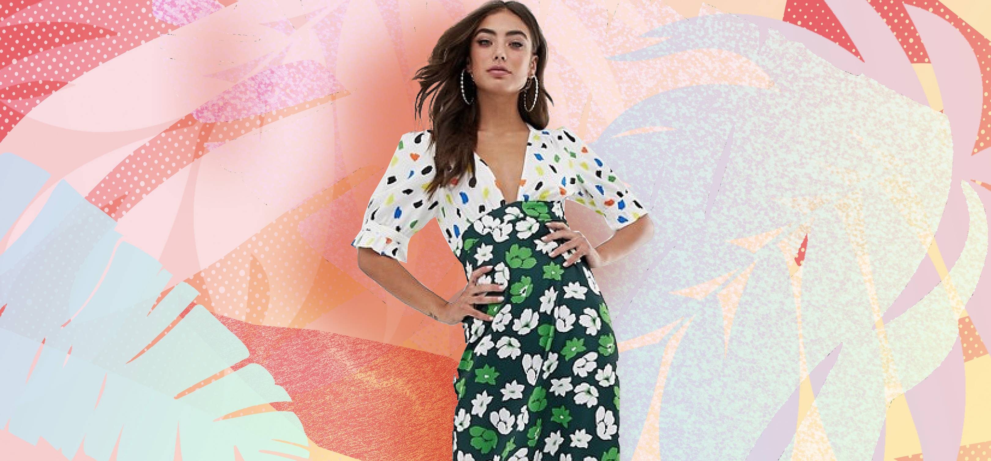 a6f6dbe368 The ASOS Mixed Print Dress Everyone Is Buying For Summer Weddings | Glamour  UK