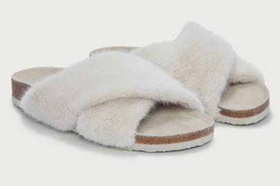 Best women's slippers UK: fur slider slippers