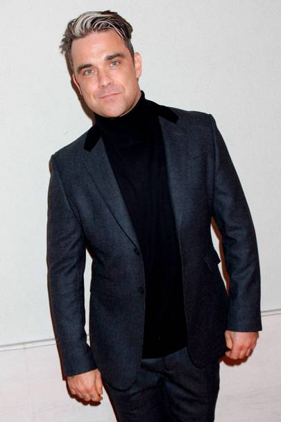Robbie Williams' grey hair Q Awards - Beauty News | Glamour UK