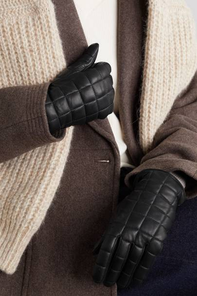 West winter gloves for women with quilting