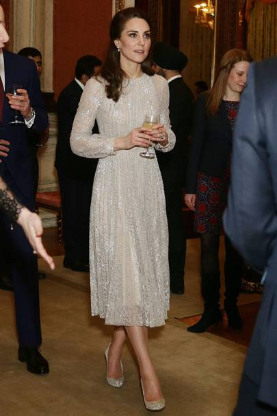 9542da2ae05749 Kate Middleton Oscar De La Renta sparkly heels