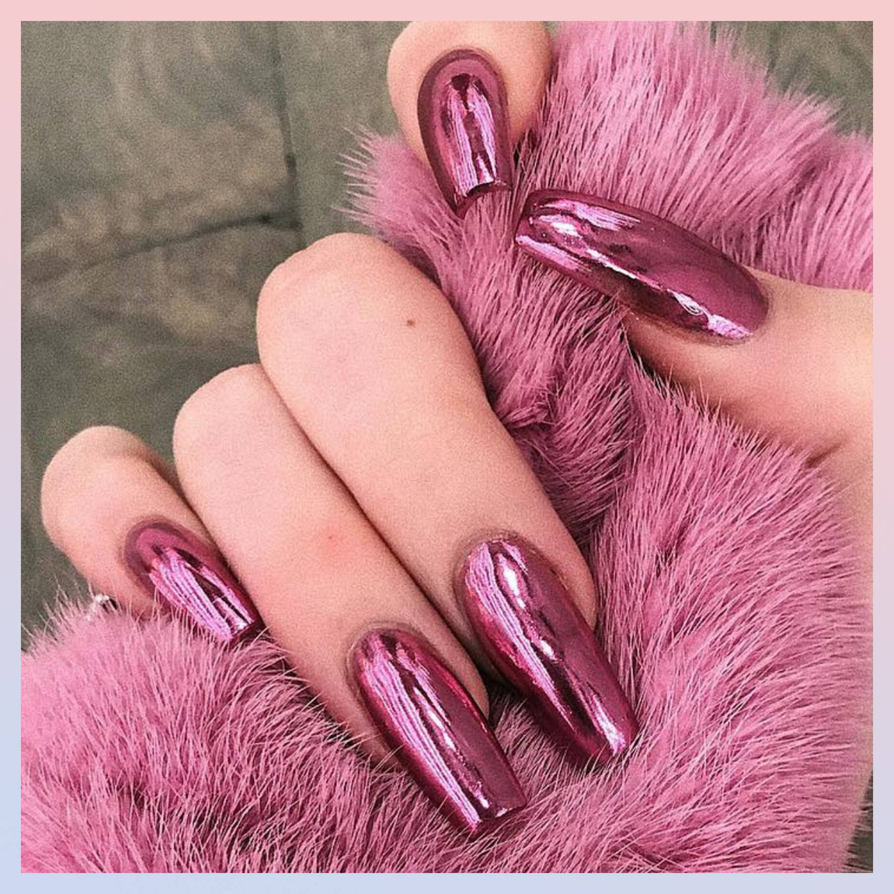 Acrylic Nails: How To Apply & Best Maintenance Tips | Glamour UK on christmas home nail designs, easy home make up, zebra nail designs, cool nail designs, crazy nail designs, simple home nail designs, easy fingernail designs, basic nail designs, red nail designs,