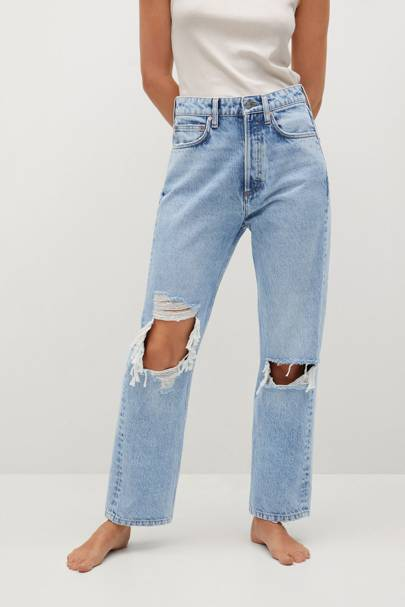 Mango Sustainable Denim Collection: the ripped jeans