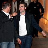 Robert Pattinson arrives at the Jimmy Kimmel Live show