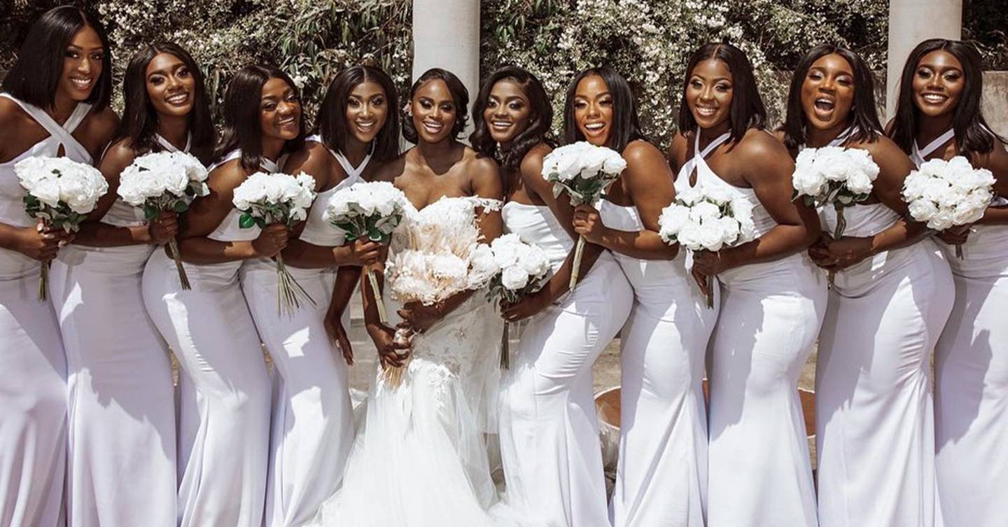 White bridesmaids dresses are officially back in fashion, and we found 19 of the most beautiful ones out there