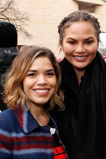 America Ferrera and Chrissy Teigan
