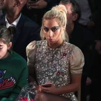 Lady Gaga watching the show