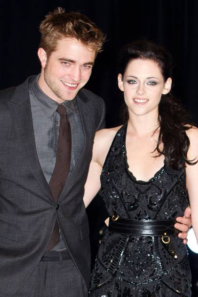 Robert Pattinson and Kristen Stewart at the UK premiere of Breaking Dawn