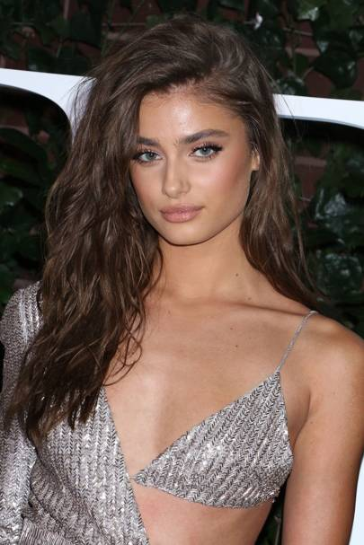f888e9b5f06 Wow. How gorgeous did Taylor Hill look at The Business of Fashion 500 Gala   We re obsessed with her wavy locks