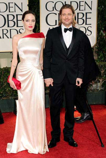 Brad Pitt and Angelina Jolie at the Golden Globes
