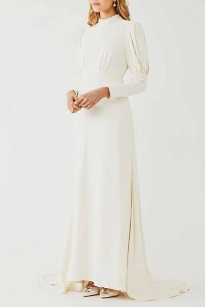 LONG-SLEEVED WEDDING DRESS: PUFFED-SLEEVE