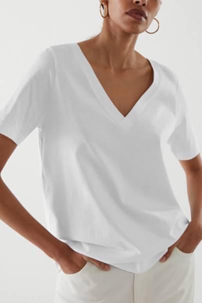 Best White T Shirt Womens V Neck