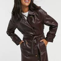 Leather coats: the tailored trench