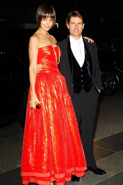 Katie Holmes and Tom Cruise, 2008