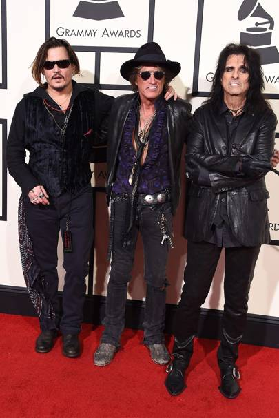 Johnny Depp Joe Perry Alice Cooper