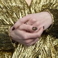 Natalia Dyer's Gold Foil
