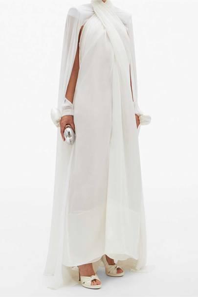 LONG-SLEEVED WEDDING DRESS: SHEER SLEEVES