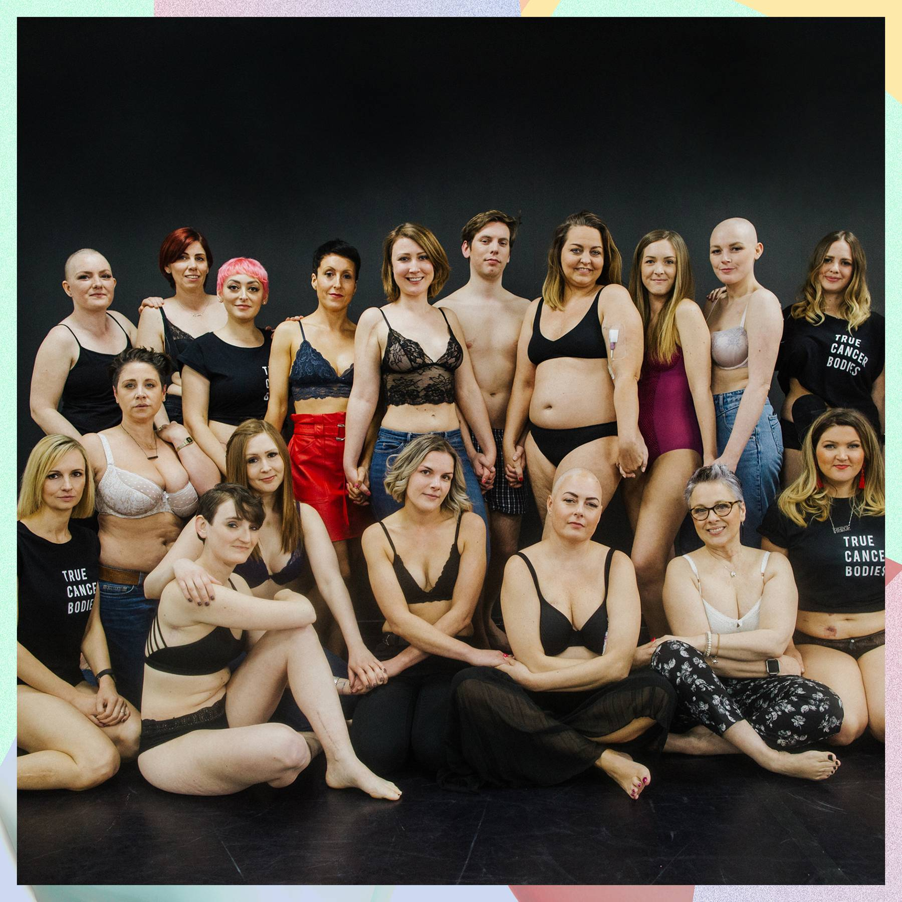 The True Cancer Bodies campaign shows brave patients proudly displaying their scars to authentically highlight the reality of cancer