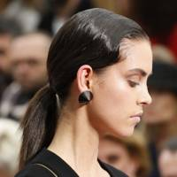 A slicked-back ponytail