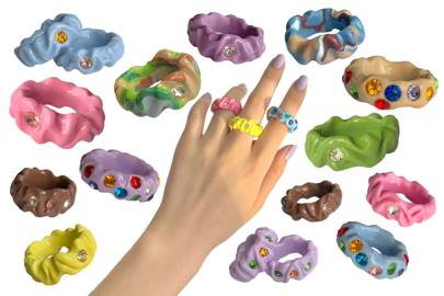 Chewing Gum Rings by Shop Sweet Thing