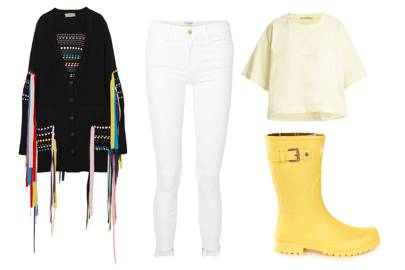 WHITE JEANS AT A FESTIVAL