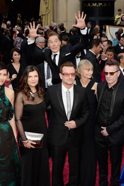 Benedict Cumberbatch & Bono + family