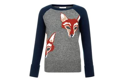We love this 'grown-up' Christmas jumper with foxes on