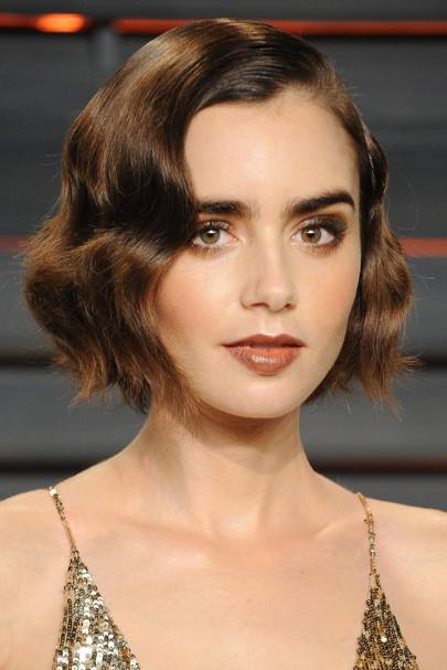 Lily Collins' 20s hairstyle