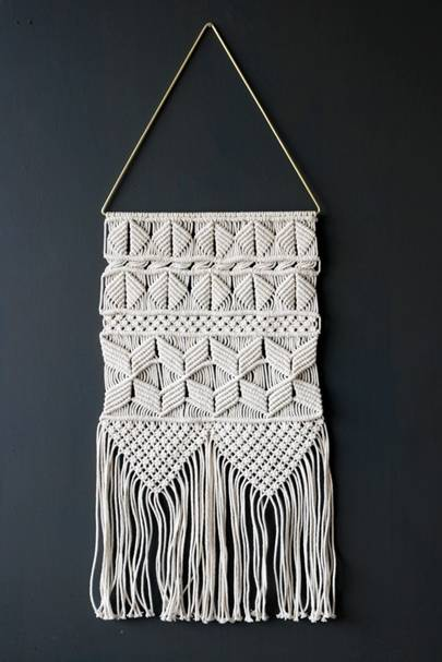 Handmade artisan wall hanging
