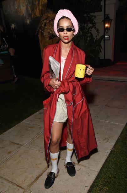 Zoe Kravitz as a vampire