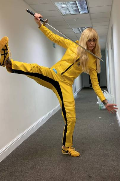 Fearne Cotton as Uma Thurman in Kill Bill