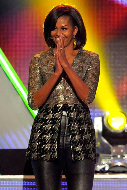 Michelle Obama at the Kids' Choice Awards
