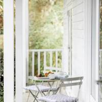 The garden table and chairs set