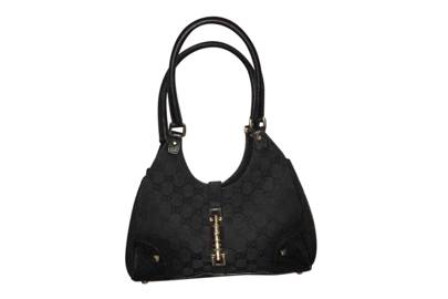 The black cloth Gucci Jackie bag