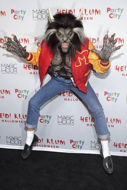 Heidi Klum as Michael Jackson Thriller