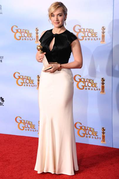 Kate Winslet wins at the Golden Globes 2012