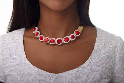 Glow Coral Necklace by Irene Kol London