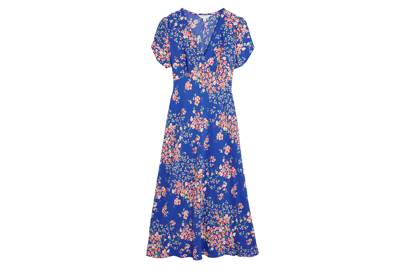 M&S x GHOST JUNE COLLECTION Blue Floral-Print  Dress