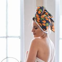 Sunrise Bliss T-shirt Hair Towels by Lakeshore Dry Goods