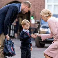 Prince George meeting the head of lower school 2017