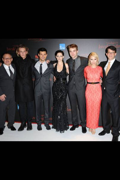 The Twilight cast at the UK premiere of Breaking Dawn